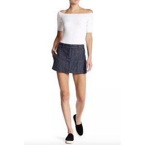 DKNY Pure Indigo Cotton Skirt Shorts/ Skorts